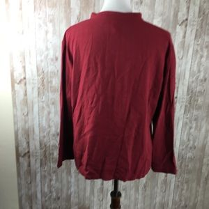 Eileen Fisher Tops - Eileen Fisher Red Button Down Long Sleeve Sz  Med